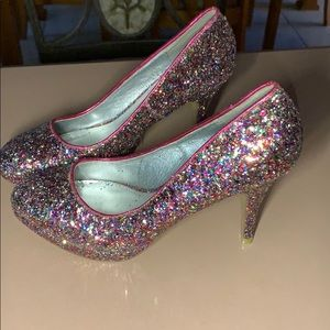 Sparkly heels multicolor